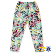 Trendy Infant and Toddler Aqua Flower Leggings Wholesale Cheap Baby Girls Leggings Pants