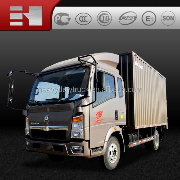 2016 hot sale high quality sinotruk howo 4x2 mini truck van truck made in china
