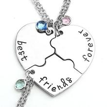 Stainless Steel Best Friends Forever BFF Necklace