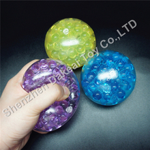 TPR multi-color provides Gel Stress toy ball bead gel filled squeeze stress ball