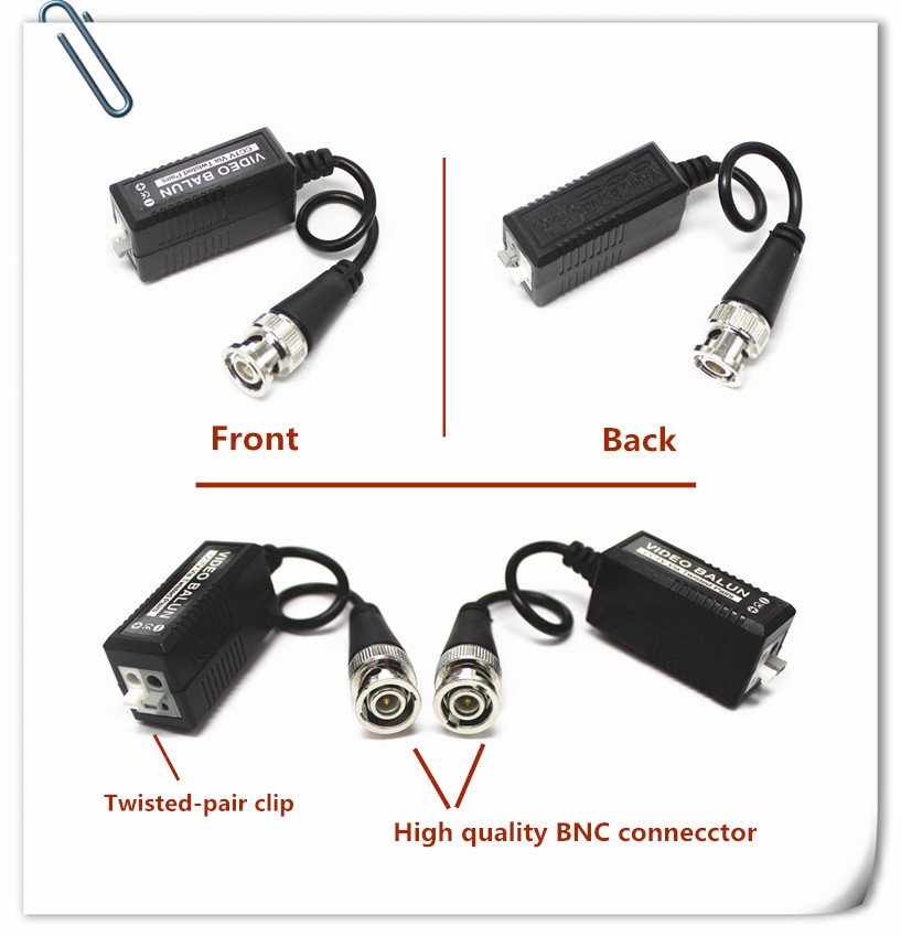 Single channel High quality CCTV camera twisted pair utp passive video balun