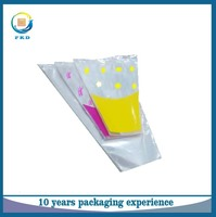 China high quality BOPP clear plastic flower sleeve fresh flower packaging bag
