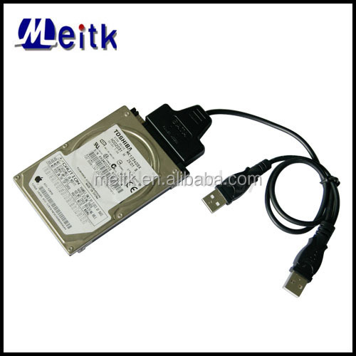 Meitk 2.5 inch HDD Hard Disk Drive Sata Cable USB 2.0 to SATA 7+15 Pin 22Pin Adapter Cable