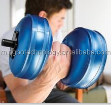 Weight Lifting Water Filled Adjustable Plastic Dumbbell