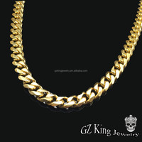 Men's stainless steel Cuban link metal chain necklace wholesale jewelry