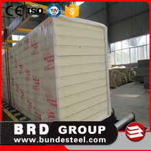 China BRD polyurethane PU foam structual insulated SIP sandwich panels for cold room
