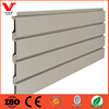 China goods wholesale melamine slatwall panel with aluminium rod for supermarket