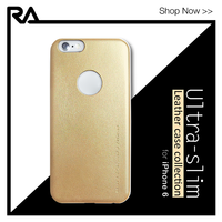 2015 best selling special gold color leather soft case 1.2mm ultra thin for iPhone 6 Plus 6s Plus