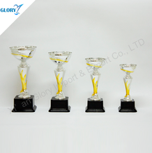 Plastic Metal Sliver Trophy Award Cup For Show Competition