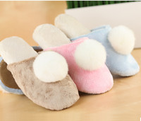 GCE257 soft velboa with fashion lady dress shoes and thick sponge sole latest girls slippers for chinese slippers