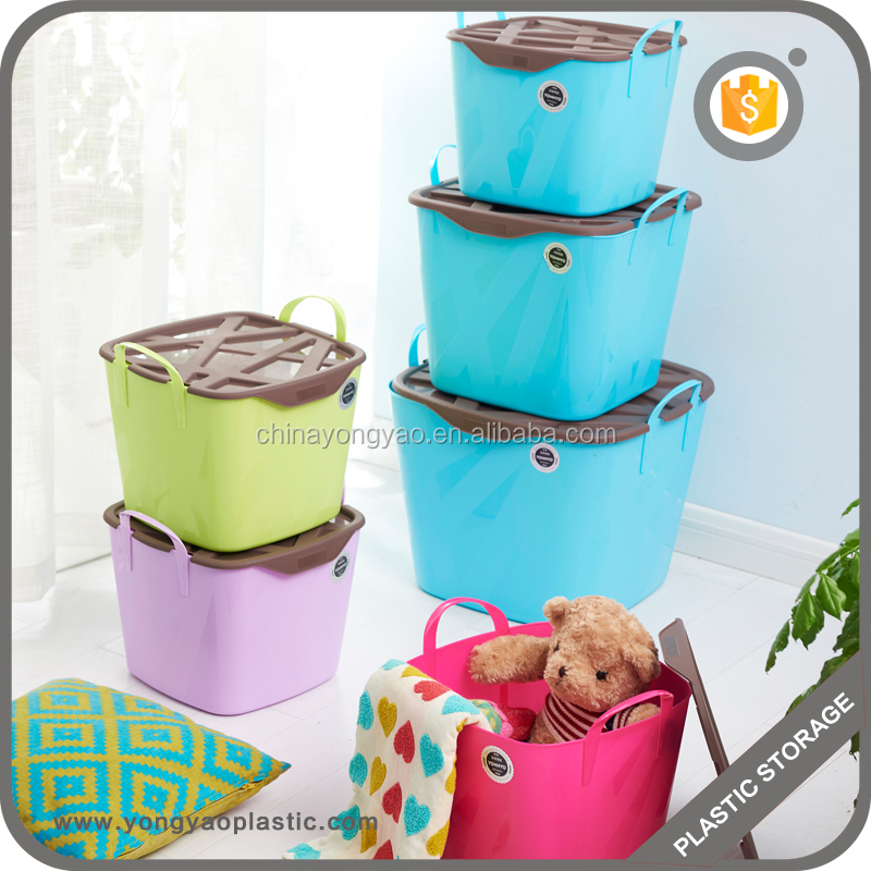Top supplier wholesale plastic mesh bag basket for laundry and home storage