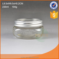 wholesale mini clear glass candy jar with metal lid