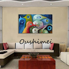 The classic parrot mouth big eyes all sorts of color best price 100% handmade oil painting in canvas