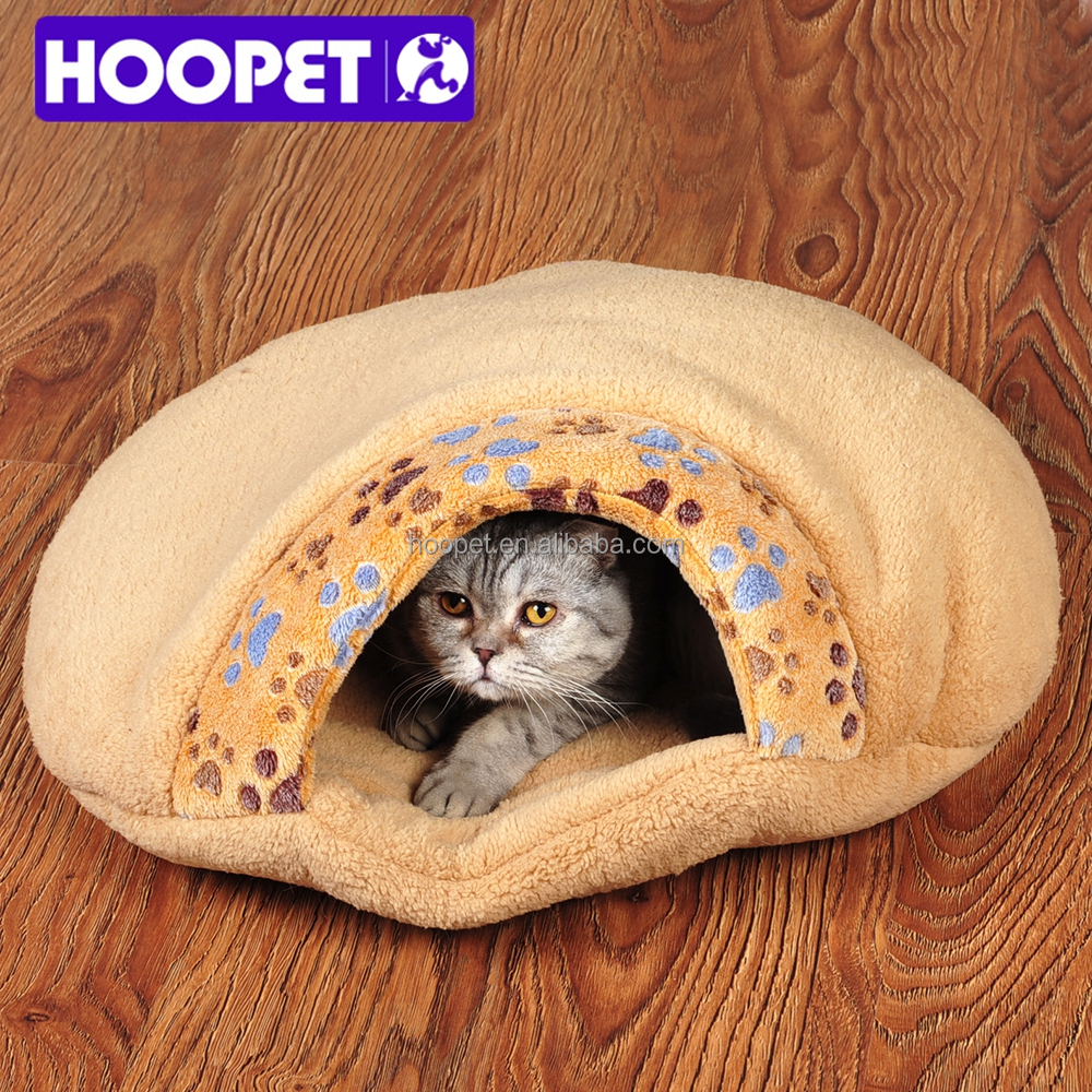 New products 2015 innovative pet products padded mini paw pattern soft cat sleeping bag cat cave bed supplies