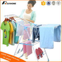 Butterfly Floor Collapsible Folding Clothes Rack, Elegant Design Metal Plastic Drying Rack Clothes Shoes Hanger