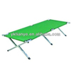 Deluxe Folding Adjustable Sun Lounger Camping cot bed for adult Green