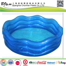 Target supplier wholesales round water play transparent blue kids inflatable wave shape pool
