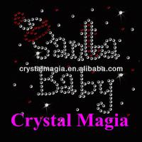 santa baby iron on transfer for big sister hotfix crystal