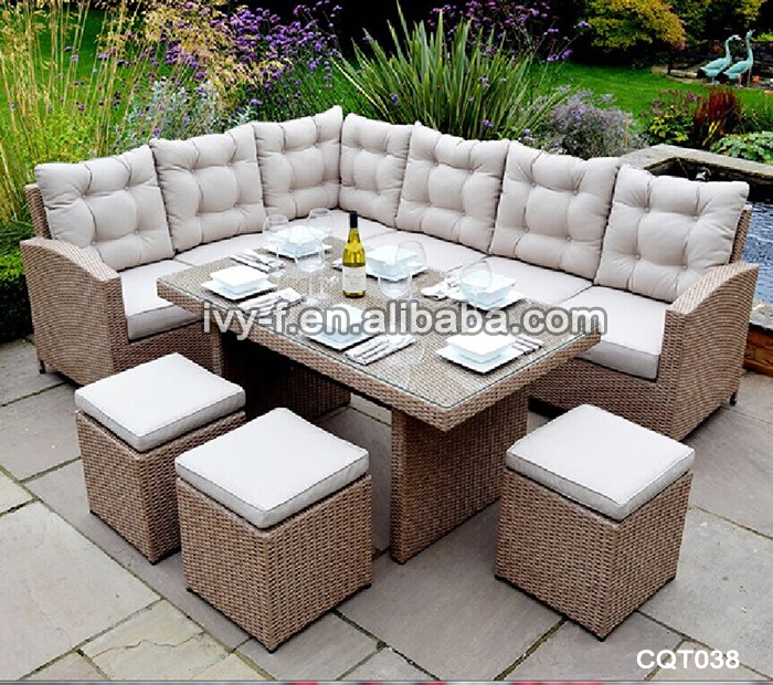 outdoor coffee table with seating underneath outdoor wicker sectional sofa l shaped modern new. Black Bedroom Furniture Sets. Home Design Ideas