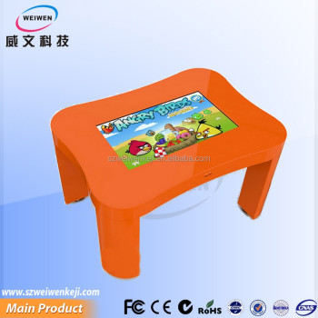 kindergarten children waterproof 32 inch touch interactive children screen table