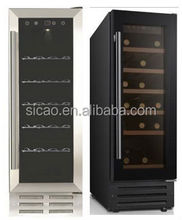 compressor R600a electric single bottle wine cooler