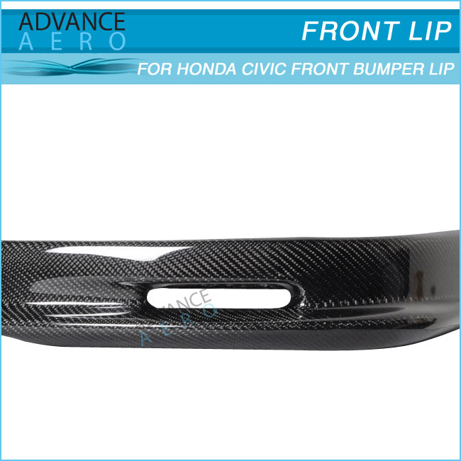 FOR 92-95 HONDA CIVIC EG 4 DOOR SEDAN CARBON FIBER MUG STYLE FRONT BUMPER LIP SPOILER BODY KITS