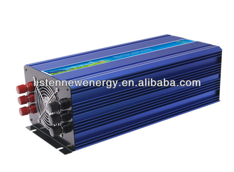 4000W 12V/24VDC 110V/220VAC Pure Sine Wave Inverter Off Grid Solar& Wind Power Inverter, Surge Power 8000W PV Inverter