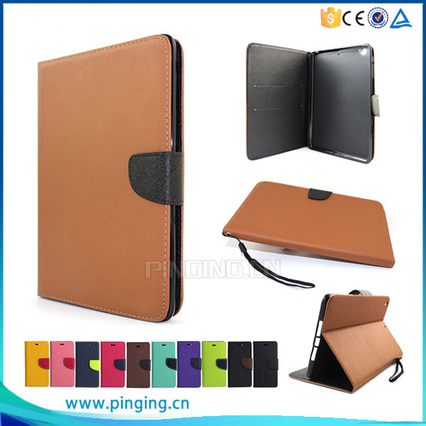Mix color flip cover leather case for ipad mini , for apple ipad mini cover case