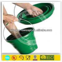 alibaba recommend silicone camping collapsible bucket barrels