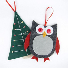 Hot new products alibaba china promotional gift fabric top native imported diy felt cheap holiday time christmas decorations