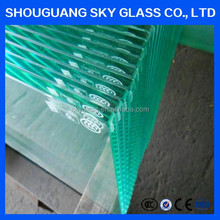 8mm chemical clear tempering/tempered/toughened glass cut to size