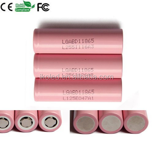 china factory wholesale LG pink color battery ICR 18650 3000mAh cell 3.7v li-ion Rechargeable Battery