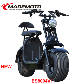 160km Removable Double Battery Citycoco electric scooter for big man