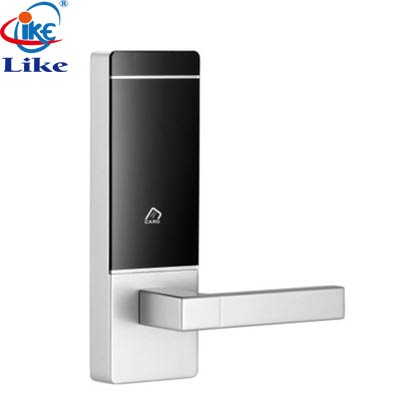 smart contactless card key hotel door handle electronic lock