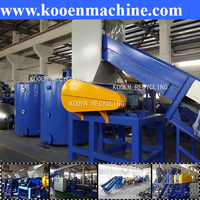 pet bottle flakes pe ldpe hdpe pp film waste plastic cleaning machine
