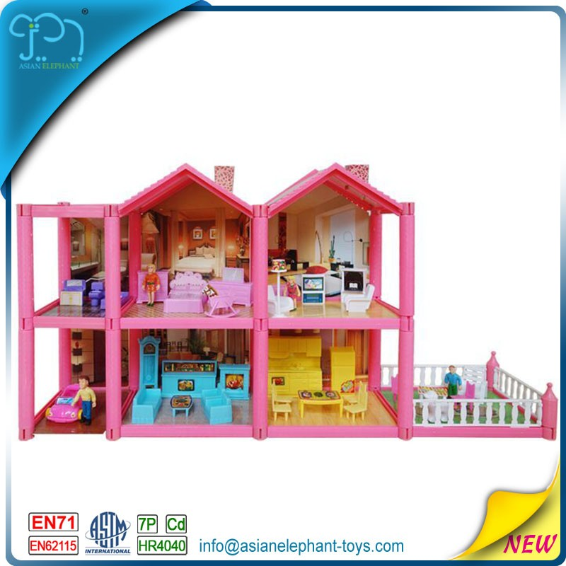 2016 Toys Kids Doll House Furniture And Accessories For Kids Preschool Toys For Girls Miniature Doll House Furniture With Light