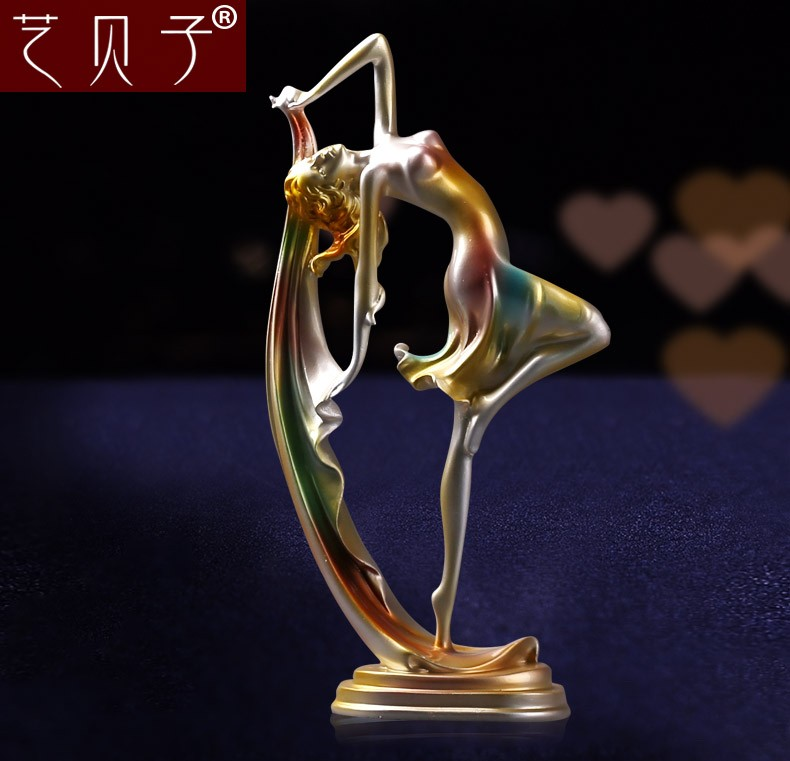 home decorative resin craft elegant dancer figurine
