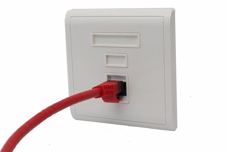 One Port Cat5 Wall Plate Ethernet Face Plate Rj45 Wall
