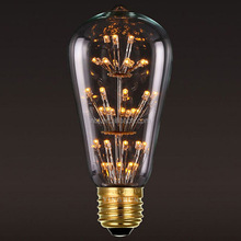 New product ST64 Fireworks LED Light for E27 Edison Vintage Bulb lamp