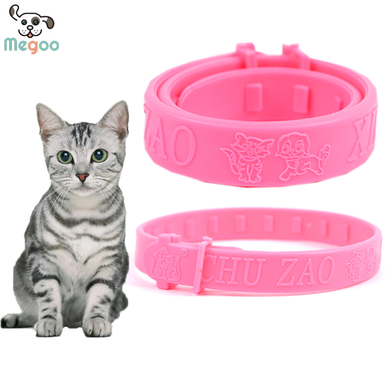 Multi-functional Soft PU Pet Cat Flea Collar Outdoor Cat Walking Neck Collar