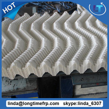 s wave square tower filler 600*1200mm PVC cooling tower film fill