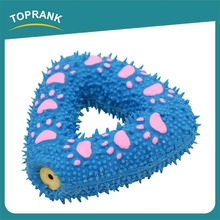 Hot sale burr triangle soft squeaky latex pet toy for dogs