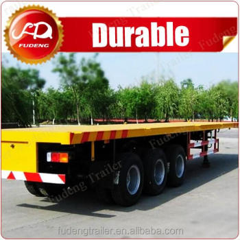 3 axle 20ft 40ft 45ft container flatbed semi trailer for sale