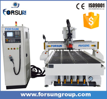 ATC made in china cnc wood router machine wth best design for furniture cutting engraving soft metal carving advertising logo