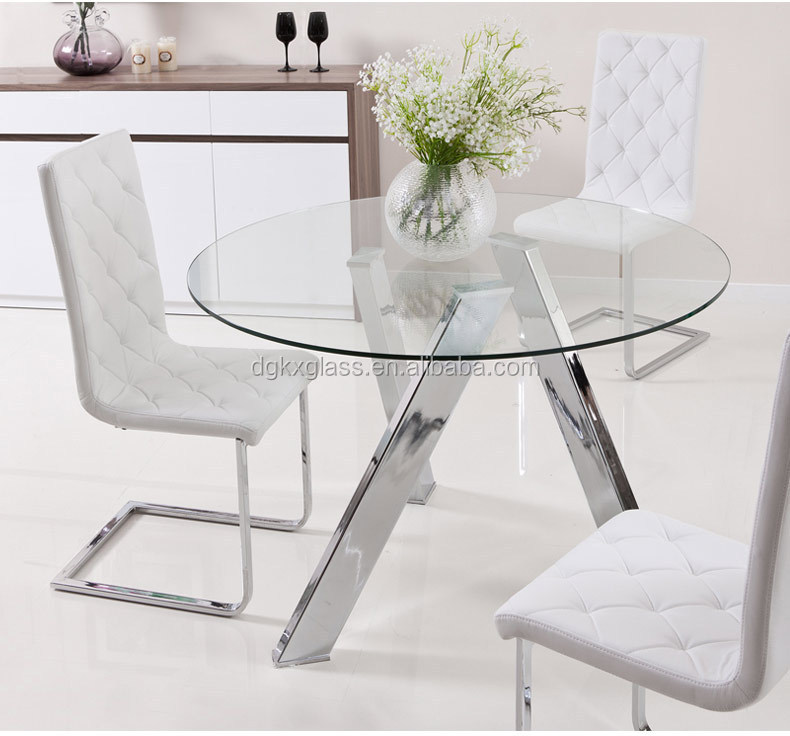 round tempered glass dining table tops factory price