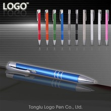 China professional manufacture colorful metal pen,custom logo pen