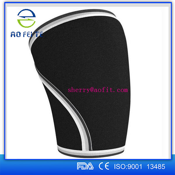 High Quality Healthcare easy wearing Black Neoprene 7mm Knee support Sleeves