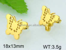 Indian gold jhumka earring butterfly shaped pictures of gold earrings
