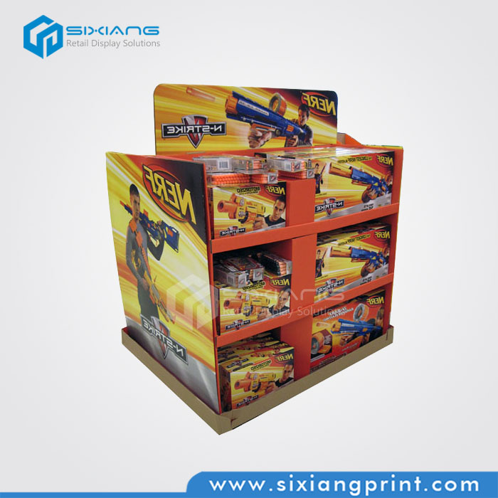 Corrugated Cardboard Pallet Display Stand for Toy Gun and Car