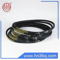 China factory endless reclaimed rubber material black color v belt